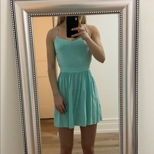 Blue dress with open back